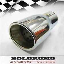 Nuevo Silenciador De Tubo Cromado de punta de escape coche se adapta a Peugeot 206 306 406 309 407 207