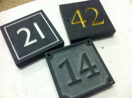 "Slate House Sign Deeply Engraved To Your Requirements 6/""//6/"""
