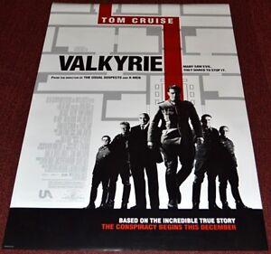 Valkyrie 2008 Original D S Advance 27x40 Movie Poster Tom Cruise Ww2 Epic Ebay
