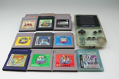 GB Pokemon Lot Green Red Yellow Blue Gold Silver Crystal Game Boy Japan