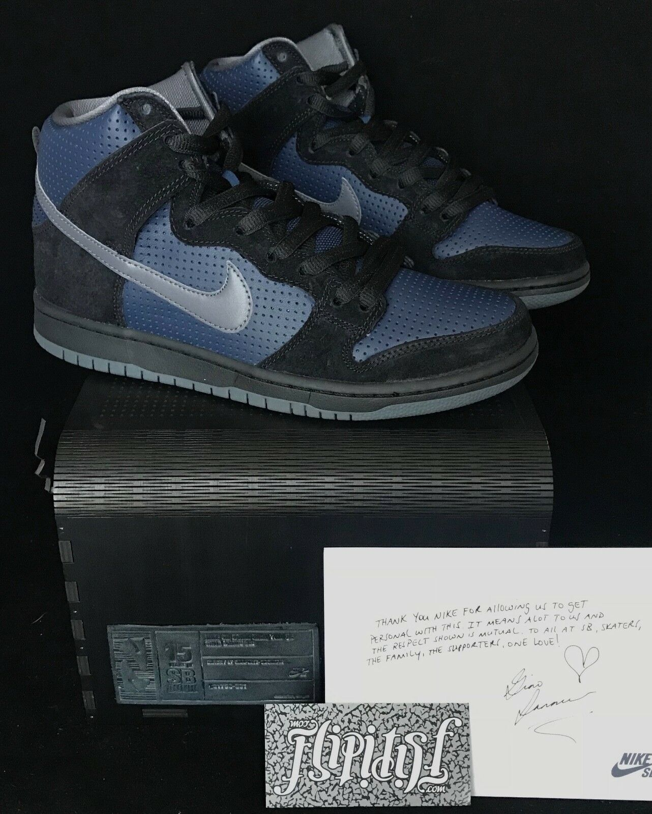 ac4543596d79 NEW NIKE SB DUNK HIGH HIGH HIGH SAMPLE FRIENDS FAMILY GINO BLACK DS PIGEON SUPREME  SIZE