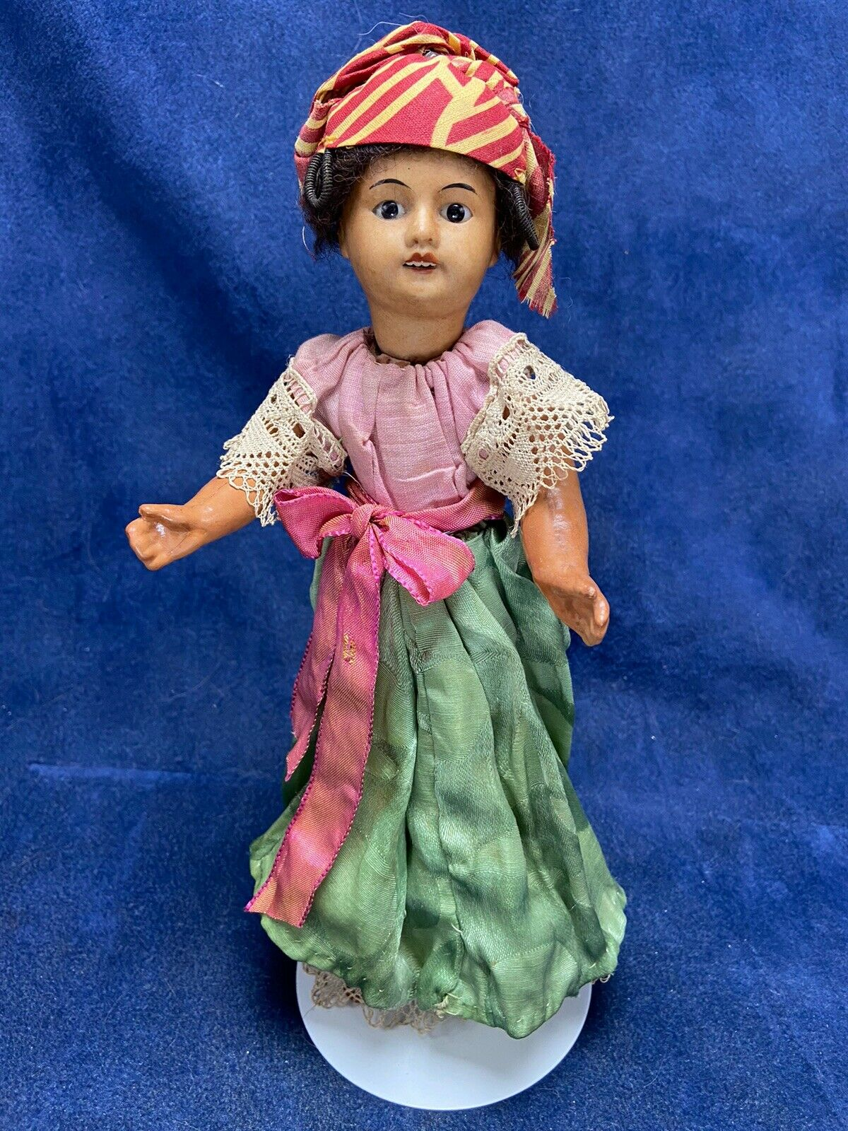 Antique UNIS 12  SFBJ Martinique DOLL  60 Bisque Jointed Creole FRANCE - SIGNED