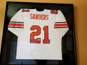 Image is loading Barry-Sanders-Framed-Jersey-Auto-Oklahoma-State-Univ- 449b03747