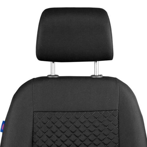 Intensif Noir Petit Carreaux HOUSSES de Siège pour Dacia Duster Devant