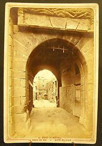 Photo-c-1900-The-door-of-the-KING-Mount-Saint-Michel-Photography-antique-16cm