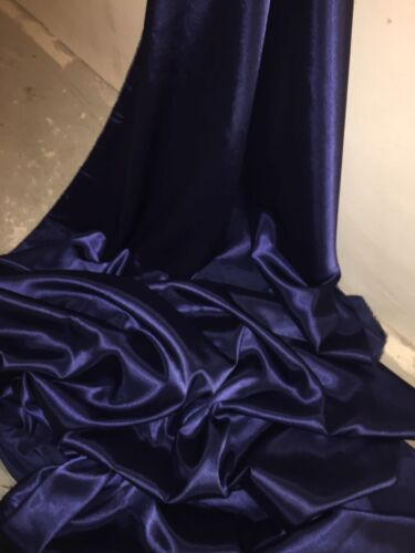 """NEW IN STOCK 1 MTR NAVY BLUE CREPE BACK LINING SATIN FABRIC...58/"""" WIDE"""