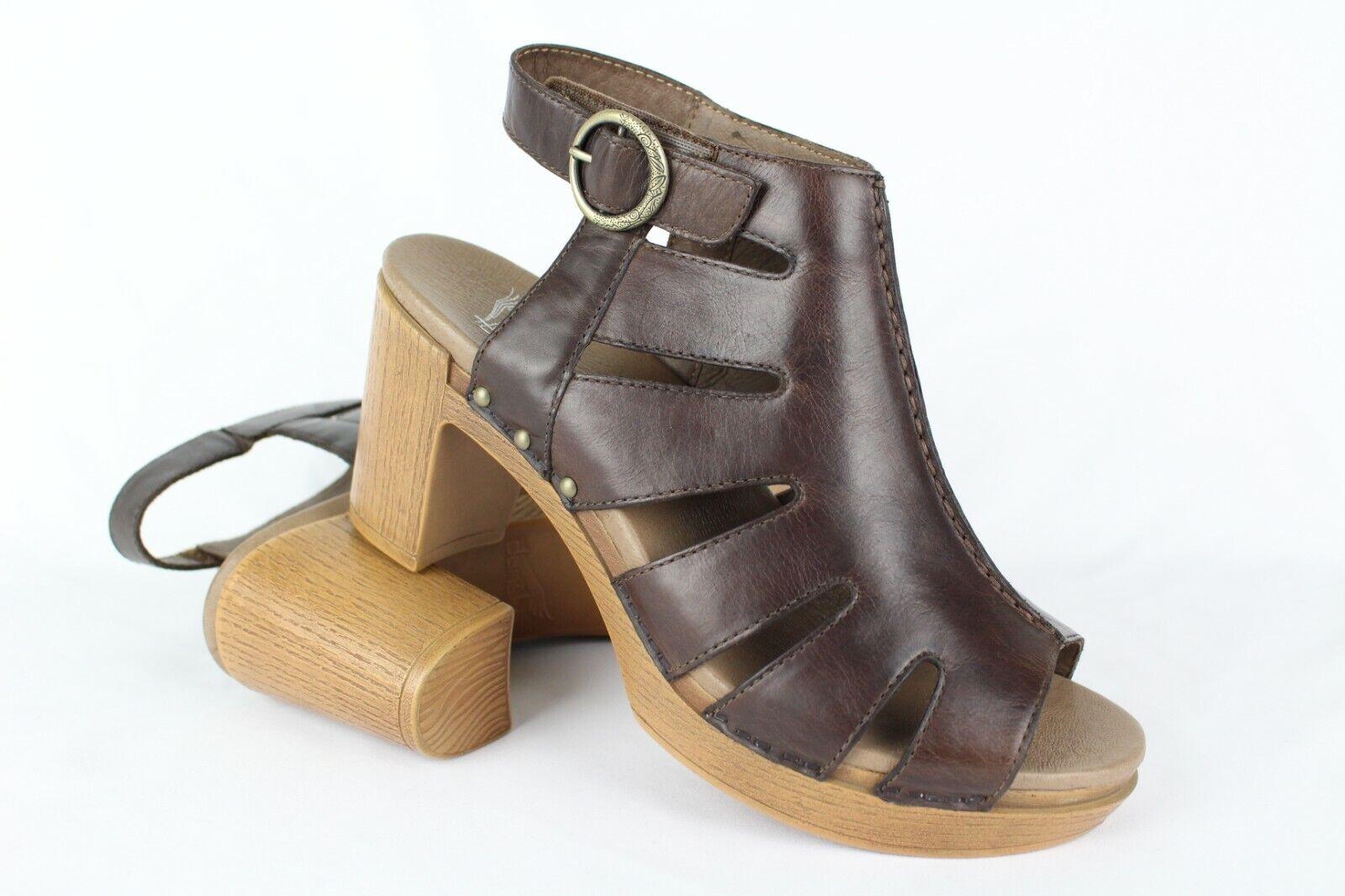 Dansko Women's Demetra Heeled Sandals Size 41 10.5-11 Taupe 3104671400