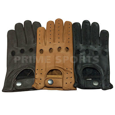 TOP QUALITY REAL SOFT LEATHER MENS UNLINED KNUCKLE HOLES DRIVING FASHION GLOVES