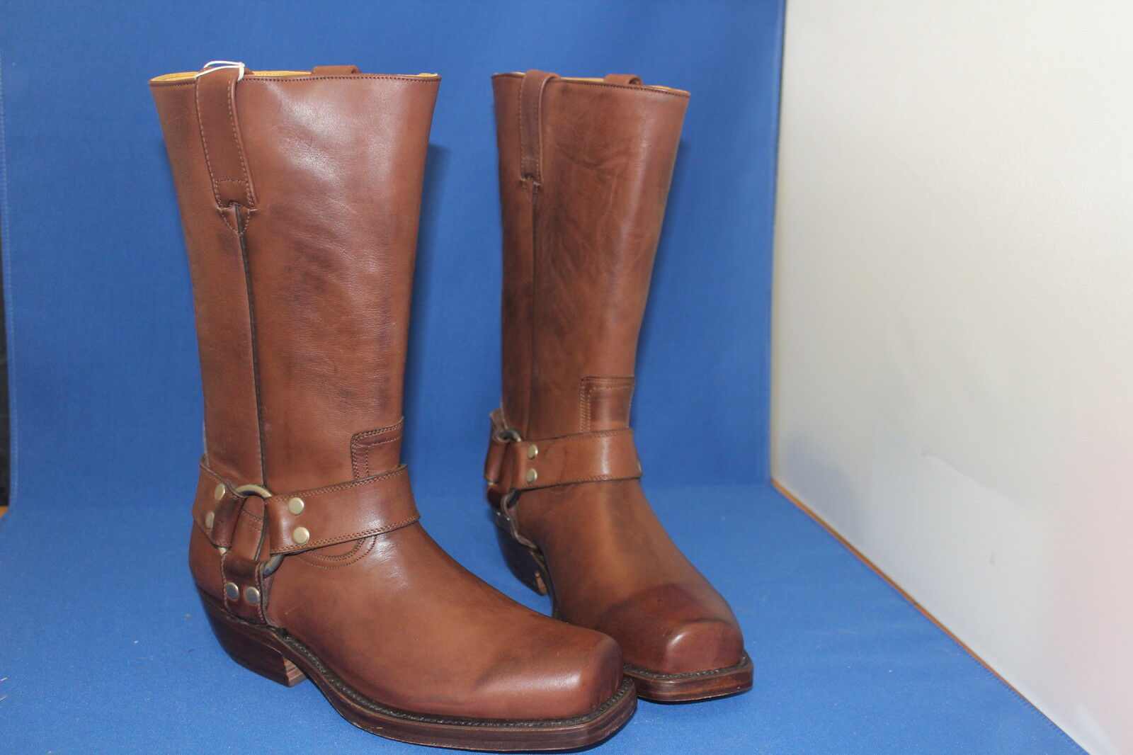 ADAM Stiefel top Western cowboystiefel Biker braunes Leder Western top neu gr.39 handmade neu 292c9f