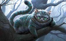 Free shipping Cheshire Cat Movie Poster HOME WALL Decor Custom PRINT Silk 44