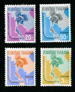 Thailand-Stamps-436-9-VF-OG-NH-Set-of-4-Scott-Value-24-20