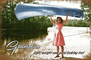 Details about Grumman Canoe Metal Sign - Hand Made in the USA with American  Steel