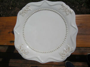 Roscher-amp-Co-Hera-Square-Dinner-Plate-s-10-1-4-034-Scallop-Edge-Hobnail-Ring