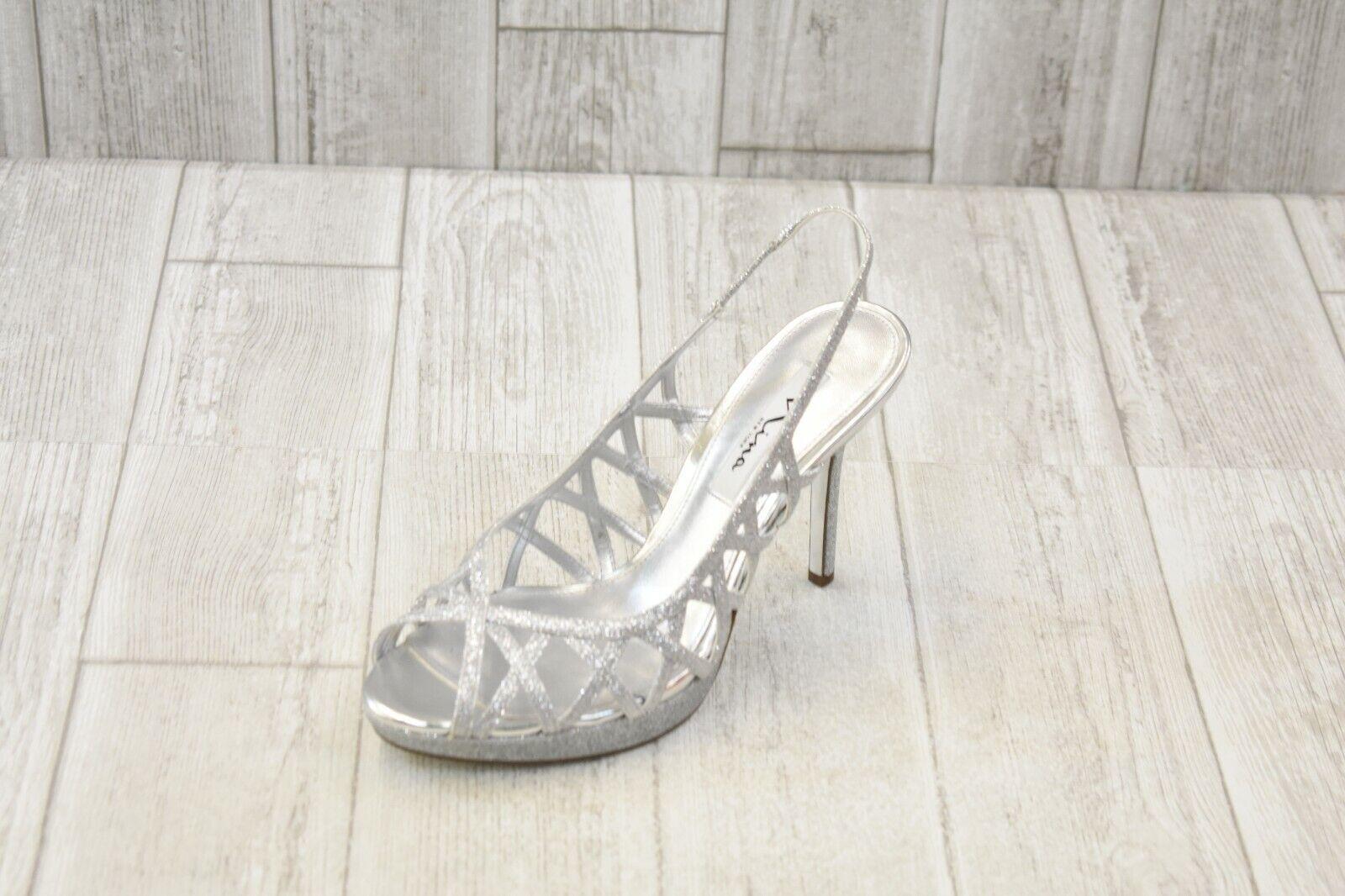 Nina Chaussures Fantina Escarpins-Femme Taille 9 m-argent NOUVEAU