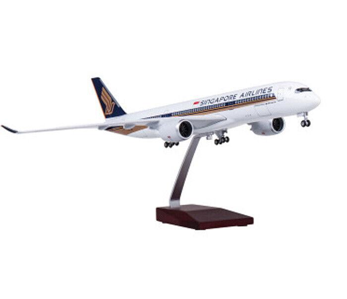 1 142 A350 modelo de avión de pasajeros de Singapore Airlines con LED Avión Juguete Collectio