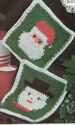 Crochet Snowman stocking- Crochet pattern & Christmas pot holders on 1 pattern