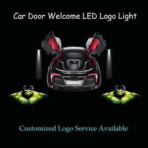 2x-3D-Hulk-Logo-Car-Door-Ghost-Shadow-Spotlight-Laser-Projector-Puddle-LED-Light