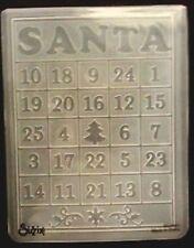 Sizzix Large 4.5x5.75in Embossing Folder CHRISTMAS BINGO CARD fits Cuttlebug