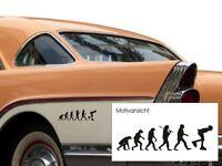 Kfz-aufkleber- Inliner - Evolution Inline-skater - Sport - Freie Farbwahl