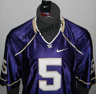 half off 98e46 3257f Washington HUSKIES Football PURPLE Nike SEWN Stitched JERSEY #5 Baccellia  MEN L | eBay