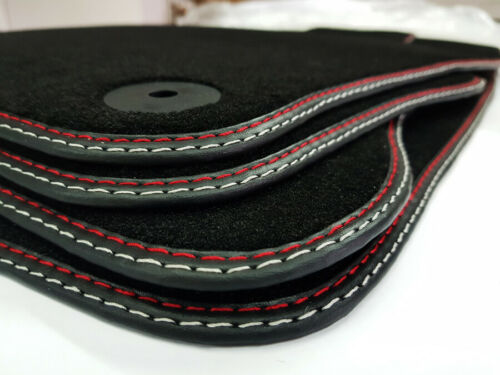 Tappetini PEUGEOT 308 qualità originale cucitura doppia ROSSO-ARGENTO velluto tappetini