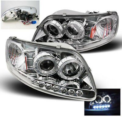 1997-2003 FORD F-150//1997-2002 EXPEDITION TRUCK HALO DRL LED PROJECTOR HEADLIGHT