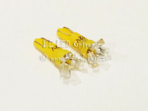 10x-T5-74-24-Wedge-Universal-Yellow-LED-Light-Bulbs-Dash-Instrument-Cluster-HVAC