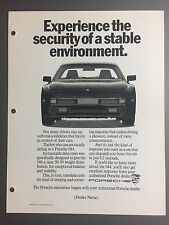 1987 / 1988 Porsche 944 Coupe Advertising Slick (Ad Slick) Print, Poster RARE!
