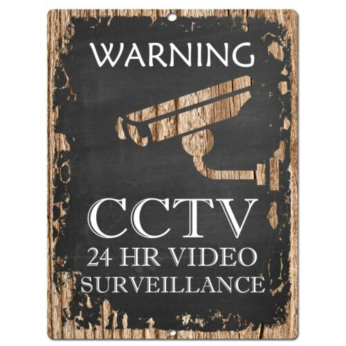 PP0500 Warning CCTV Plate Chic Sign Bar Store Shop Cafe Restaurant Kitchen Decor