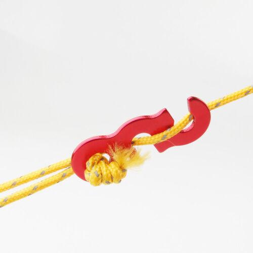 20 Pcs Rope Tightener Canopy Lock String Fastener Adjustable Lightweight Guyline