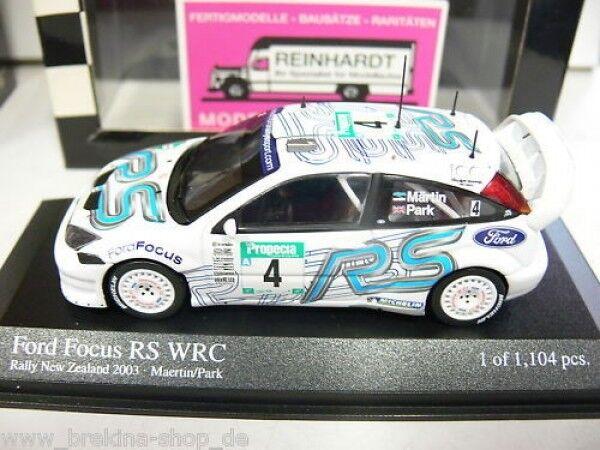 1 43 Minichamps Ford Focus RS WRC Rally New Zeeland '03 400038994
