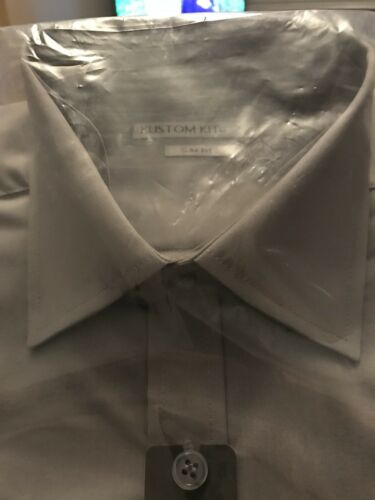 Bnwt Kk192 Kustom Kit Slim Fit Shirt Grey 15 Collar