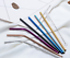 8x Stainless Steel Reusable Extra Long Metal Drinking Straw 2 Brush /& Eco Pouch