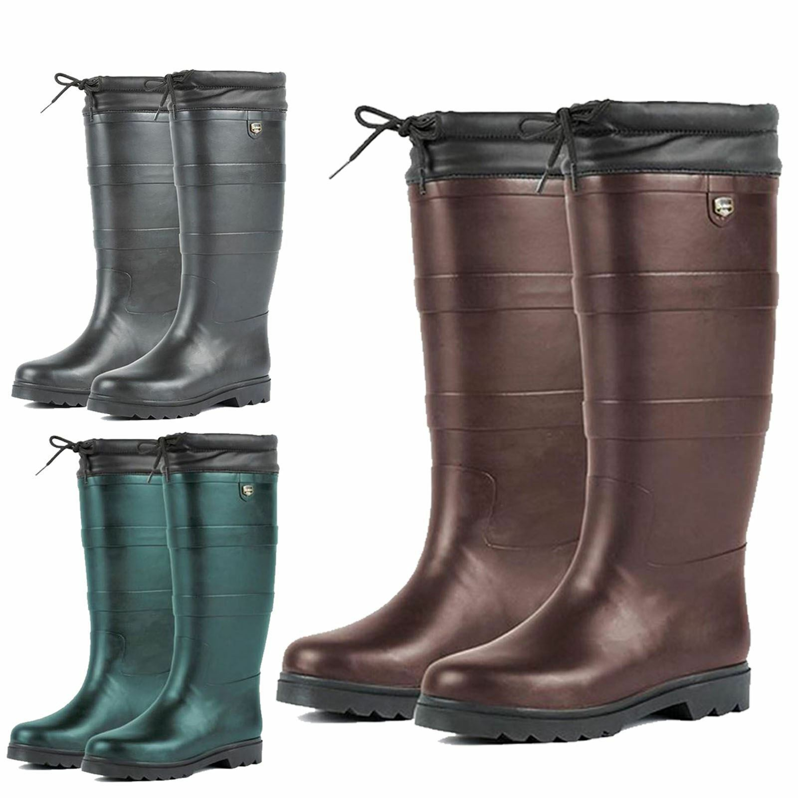 Adults Dublin Outdoor Waterproof Neoprene Rain Country Wellington Boots