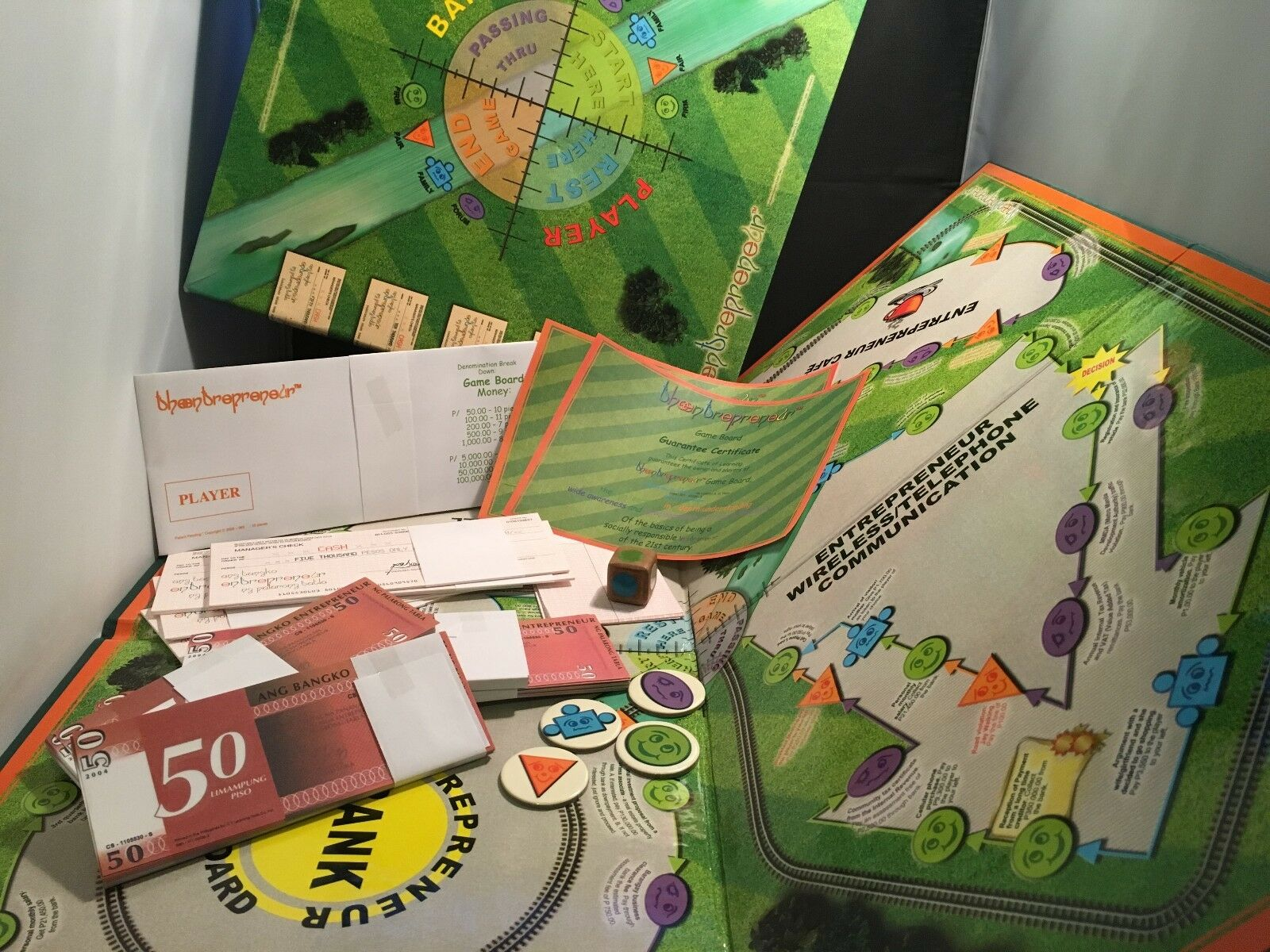 The Entrepreneur –  Collectable Board Game from the Philippines – Vintage 2005.