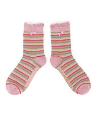 Ladies Powder Design Warm /& Soft Pink Stripe Ankle Socks in Pretty Gift Bag