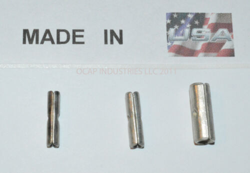 150 10-12 14-16 18-22 UNINSULATED BUTT CONNECTORS TERMINAL BARREL MADE IN USA