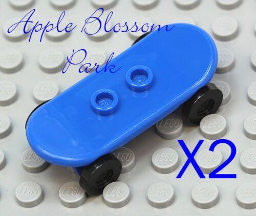 Boy//Girl Minifigure Skate Board Toy NEW Lego City Lot//2 Minifig BLUE SKATEBOARD