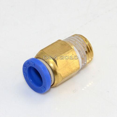 """Empuje neumática uno de latón para conectar Roscado Macho Recto 1//4/"""" Od 8mm NPT"""