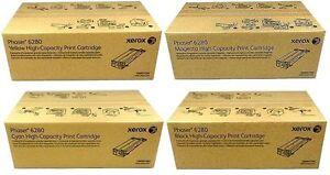 4-ORIGINAL-Xerox-Phaser-6280-N-DN-106R01395-106R01394-106R01393-106r01392