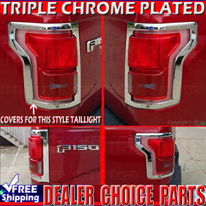 2016 F150 Tail Lights >> 201 2016 2017 Ford F150 Chrome Taillight Tail Light Covers Bezel
