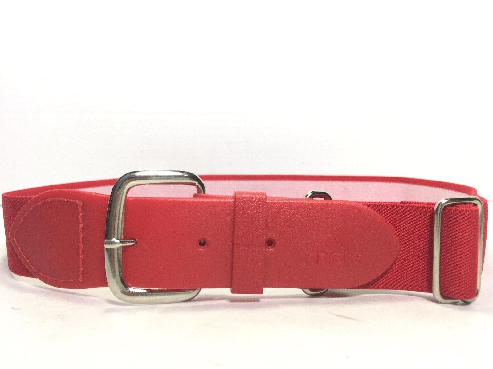 ADIDAS Damen Rot Verstellbarer Stretchy Sport Canvas Gürtel Größe Small
