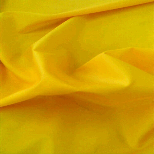 YELLOW Waterproof 4oz Fabric Various Uses SOLD BY THE METRE Free DELIVERY UK