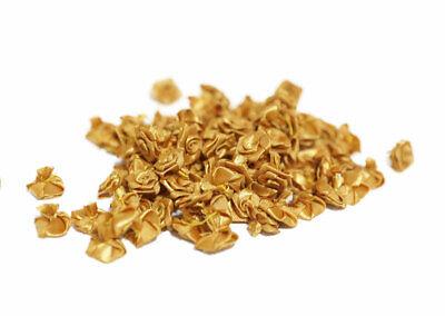 60pc Gold Edge Mini Satin Ribbon Flowers Bows Gift Craft Wedding Decoration A247