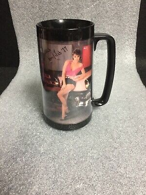 FEB INSULATED MUG CUP THERMO-SERV 1988 SNAP-ON TOOLS CALENDAR GIRL CLAIRE JAN