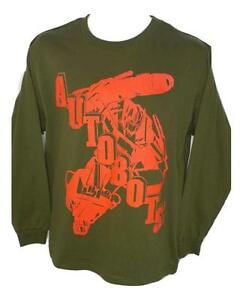 NEW SIZE Small TRANSFORMERS AUTOBOTS ARMY GREEN OPTIMUS PRIME SHIRT MENS