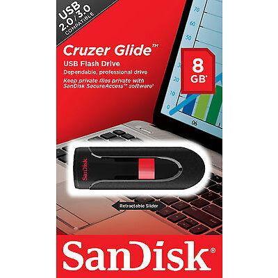 16GB 32GB 64GB SanDisk CRUZER GLIDE USB 2.0 Flash Memory Pen Drive Thumb Stick