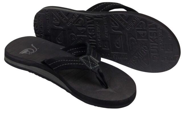 b4510c1db6e5 Quiksilver Carver Suede Sandals Aqyl100030 9 Solid Black for sale ...