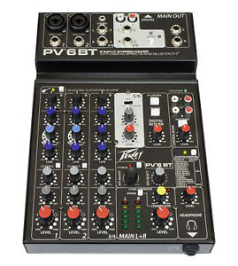 Peavey-PV-6-BT-Mixer-with-Bluetooth-and-Effects-Ships-FREE-to-ALL-US-Zip-Codes
