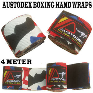 Austodex-boxing-cotton-Bandages-pair-Hand-Wraps-Guards-MMA-UFC-Wrist-straps-4m